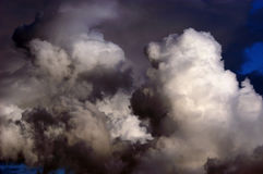 Dangerous stormy clouds. Near by thunderstorm approach royalty free stock photo