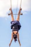 Dangerous stunt Royalty Free Stock Photo