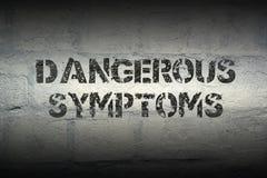 Dangerous symptoms gr Royalty Free Stock Image