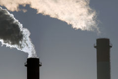 Dangerous toxic CO2 clouds Stock Images