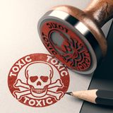Dangerous and Toxic Product Label Royalty Free Stock Photography