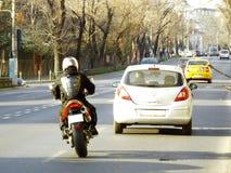 Dangerous traffic Stock Images