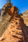 Dangerous trail in Zion National Park, Angel's landing Stock Photography