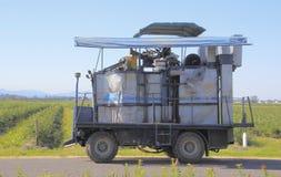 Dangerous Use of Farm Machinery Royalty Free Stock Photo
