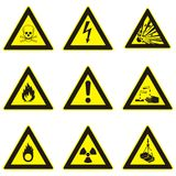 Dangerous warning signs Stock Photography