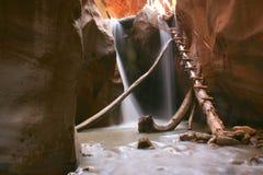 Dangerous Waterfall Ladder Stock Images