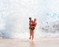 Dangerous waves royalty free stock images