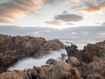 Dangerous waves and rocks, Canal Rocks, Western Australia Royalty Free Stock Photo