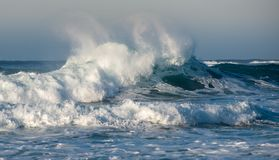 Free Dangerous Wavy Ocean With Wind Waves Crashing Royalty Free Stock Photography - 166991177