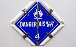 Dangerous when Wet Royalty Free Stock Photos
