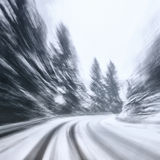 Dangerous winter driving Stock Images