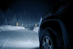 Dangerous Winter Road Royalty Free Stock Photography