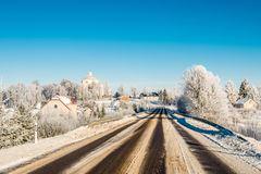 Dangerous winter road Royalty Free Stock Image