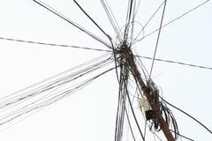 Dangerous wiring Royalty Free Stock Photos