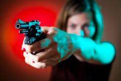 Dangerous woman Stock Images