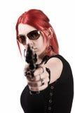 Dangerous young girl Stock Image
