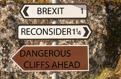 Dangers de BREXIT Image libre de droits