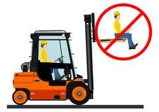 Dangers de chariot élévateur illustration de vecteur