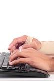 Dangers de travail d'ordinateur images libres de droits