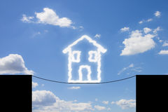 Dangers et pièges d'une maison photo libre de droits