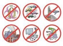 Dangers et risques écologiques illustration stock