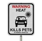 Dangers of leaving a dog in parked cars Royalty Free Stock Image