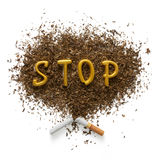 The dangers of smoking Stock Photography