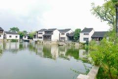Dangkou landscape, ancient town of Wuxi, Jiangsu Province, China.  royalty free stock image