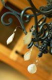Danglers on a chandelier. Stock Images