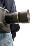 Dangling Camera on back Stock Images