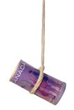 Dangling Canadian dollar Royalty Free Stock Photos