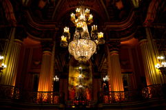 Dangling chandelier. The interior of a classic theater in downtown los angeles Stock Photo