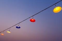 Dangling lamps in a fun task,lamp,Hanging lamp. Dangling lamps in a fun task,lamp Stock Photography