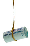 Dangling Malaysian Ringgit Stock Photography