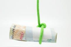 Dangling Singapore dollar Stock Image