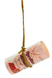 Dangling Thai baht Stock Image