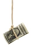 Dangling US dollar Royalty Free Stock Images