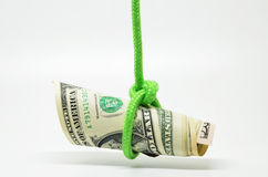 Dangling US dollar Stock Images