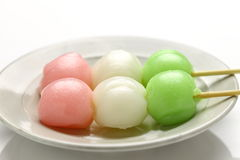 DANGO dumpling. Is a Japanese traditional sweet Royalty Free Stock Photography
