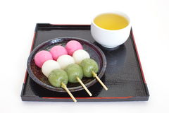 Dango japanese dumpling and sweet. Made from rice flour Stock Image