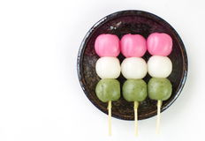 Dango japanese dumpling and sweet. Made from rice flour Royalty Free Stock Image