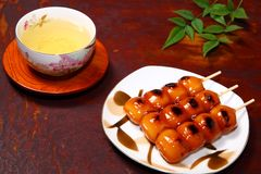 Dango and tea Stock Photos