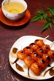 Dango and tea Royalty Free Stock Photography
