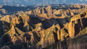 Heroic magical ice ditch Danxia. Dangou Scenic Area of Binggou is an important part of Zhangye Danxia National Geological Park. It is mainly distributed in Sunan royalty free stock photography