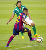 Dani Alves in action Royalty Free Stock Photography