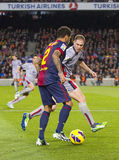 Dani Alves in action Royalty Free Stock Photos