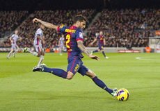 Dani Alves in action Royalty Free Stock Image