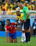 Dani Alves   and Alexis Sanchez Coupe du Monde 2014 Royalty Free Stock Photos