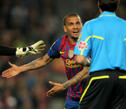 Dani Alves of Barcelona. During the Spanish league match against Atheletic Bilbao at the Camp Nou stadium on March 31, 2012 in Barcelona, Spain Royalty Free Stock Image