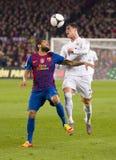 Dani Alves和Cristiano Ronaldo 免版税库存照片